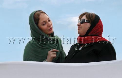 دیدار مهناز افشار و قربانی حادثه اسید پاشی!! عکس