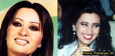 عکس هایی از قبل و بعد آرایش مشهور ترین زنان عرب