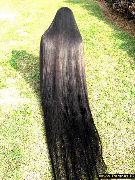 عکس های دیدنی از زنانی با بلندترین موی جهان