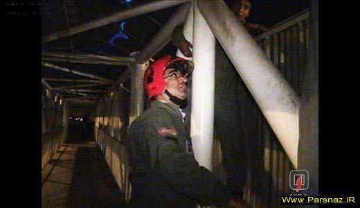 خودکشی جوانی با پریدن از پل + گزارش تصویری