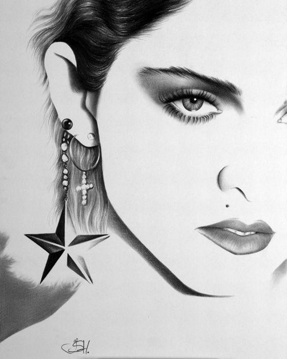 عکس های هنری با مداد از افراد معروف هالیوود