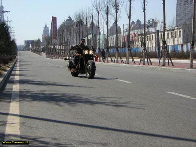 ساخت موتور دست ساز عجیب توسط یک مرد چینی