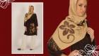 عکسهایی از مدل های جدید چاپ روی شال و لباس زنانه