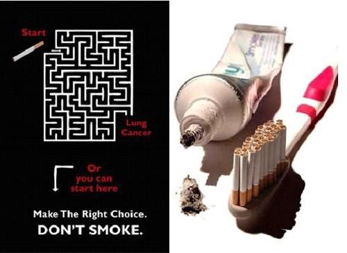 عکس های دیدنی از تبلیغات جالب ضد سیگار