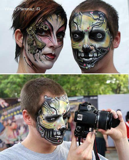 عکس های عجیب از نقاشی روی صورت