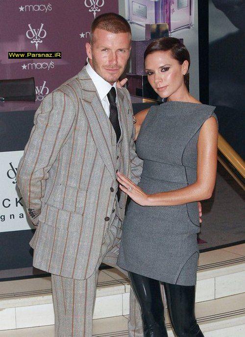 عکس های جدید از دیوید بکهام و همسرش