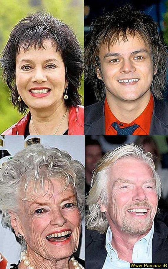 عکس های جالب از افراد معروف هالیوود و مادرانشان