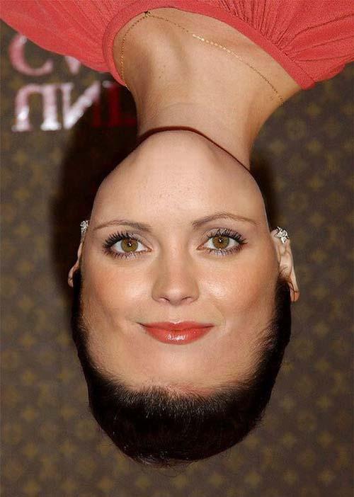 عکسهای چهرههای وارونه بازیگران معروف هالیوود