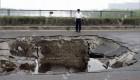 فرو ریختن پلی در چین + (عکس)