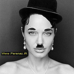 عکس های انجلینا جولی در چهره های مختلف
