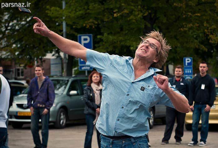 عکس های جالب از مسابقات پرتاب تلفن همراه در فنلاند
