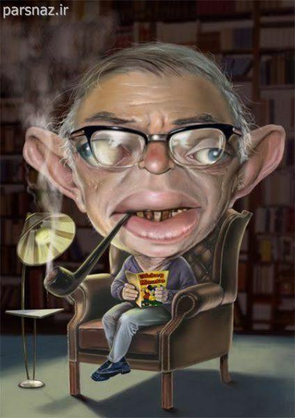 کاریکاتور های افراد معروف جهان +آخر خنده