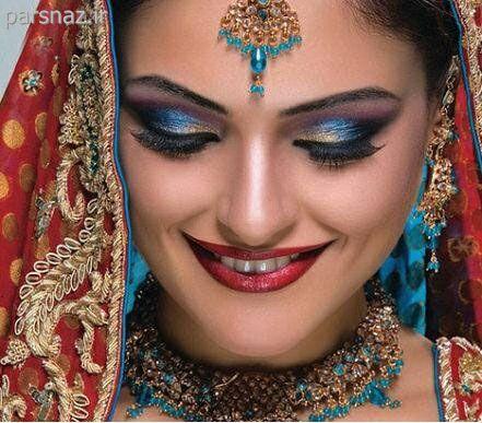 عکسهای زیبا و جذاب از آرایش عروس های هندی