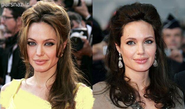 ع پروفایل مو بلند عکس های جذاب از مدلهای موی انجلینا جولی