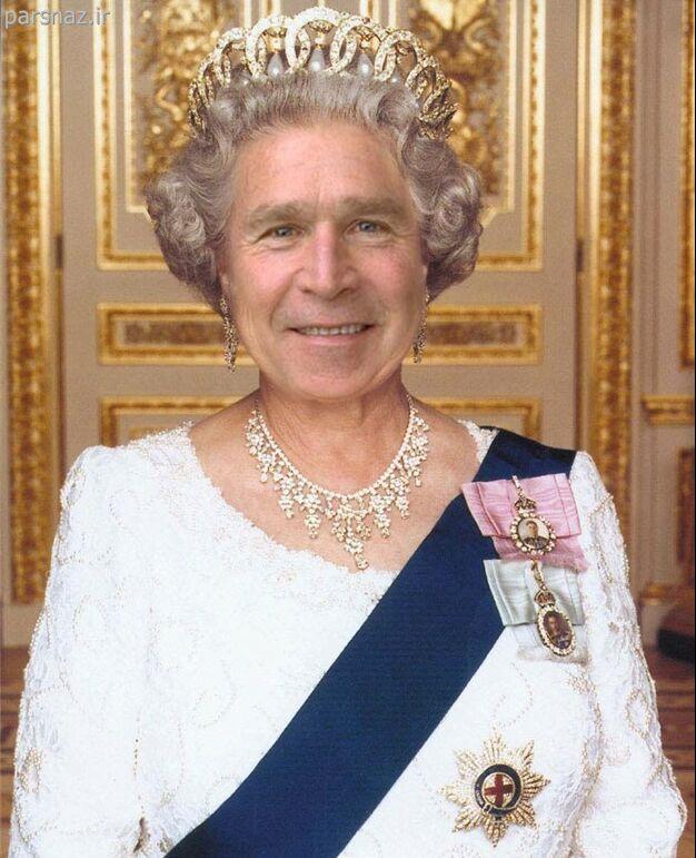 عکس های خنده دار از جرج بوش
