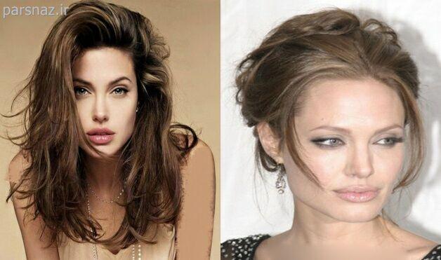 عکس های جذاب از مدلهای موی انجلینا جولی