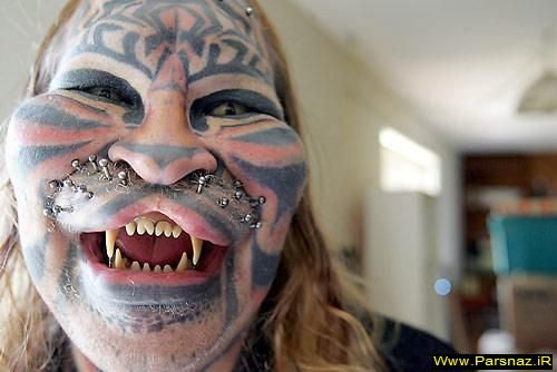 تصاویر باور نکردنی از تغییر چهره مردم با هنر تاتو