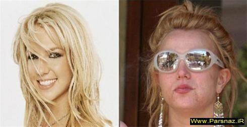 عکسهای چهره زنان معروف هالیوود قبل و بعد آرایش