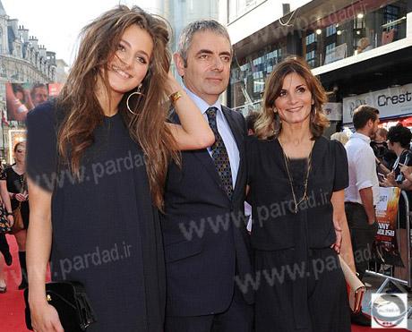 مستر بین در کنار دختر و همسرش + عکس