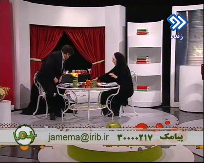 سوتی در برنامه زنده آزاده نامداری + عکس