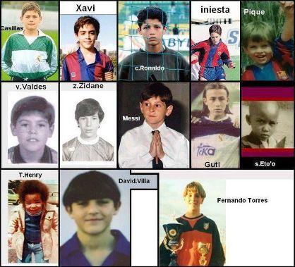 www.parsnaz.ir - عکس های جالب از نوجوانی ستارههای فوتبال