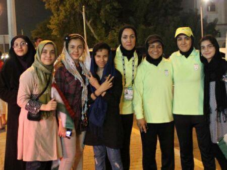 خوشحالی دختران فوتبالیست ایران پس از برد + عکس