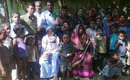 به خانه بخت رفتن پیرترین داماد دنیا در هند + عکس
