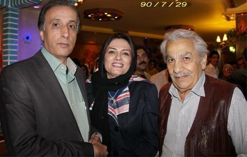 محمدرضا حیاتی گوینده خبر به همراه همسرش