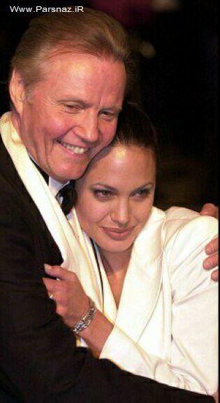 آنجلینا جولی و پدرش با یکدیگر آشتی کردند!! + عکس