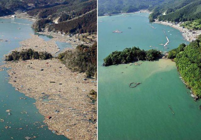 تلاش و همت مردم ژاپن 3 ماه پس از زلزله + (عکس)