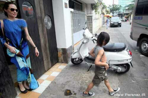 www.parsnaz.ir - عکس های جدید از آنجلینا جولی و براد پیت در ویتنام