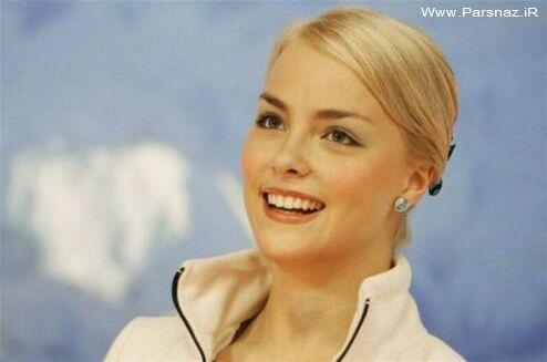 زیباترین زن رقاص روی یخ دنیا + عکس
