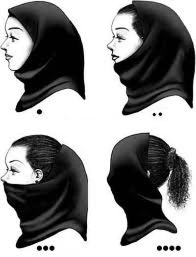 سیر تکامل مقنعه دختران ایرانی + تصاویر