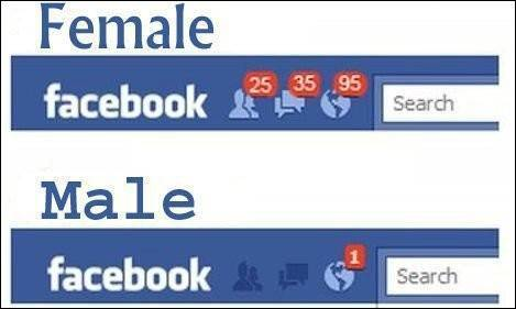 فرق بین دختر و پسر ها در فیس بوک