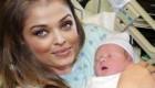 آیشواریا به همراه نوزاد تازه به دنیا آمده + عکس