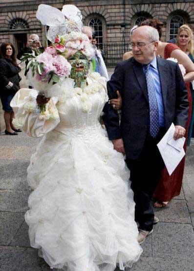 زشت ترین عروس دنیا را ببینید + عکس