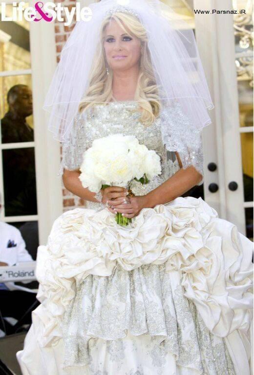 بازیگری با لباس عروسش تیتر مجلات شد + تصاویر