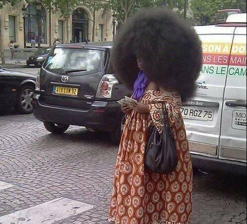 زنی با عجیب ترین مدل موی جهان + عکس