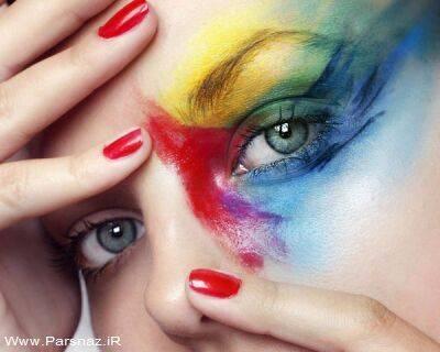 عکس هایی از ارایش چشم زنان