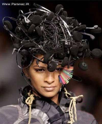 عکس هایی از لباس های عجیب زنان در شوهای مد لباس