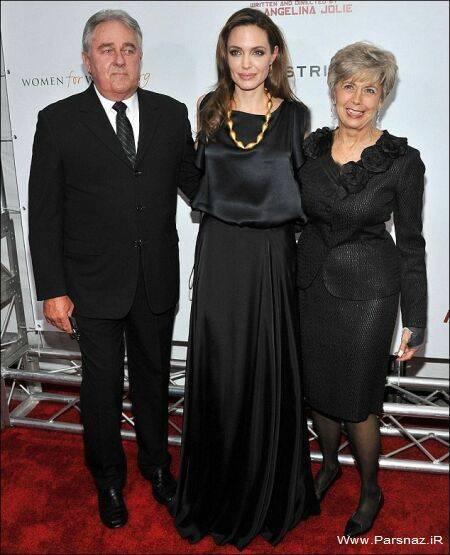 عکس های آنجلینا جولی در کنار مادر شوهرش