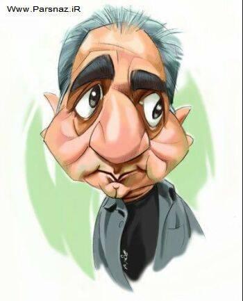 www.parsnaz.ir - کاریکاتور های جدید از بازیگران معروف ایرانی