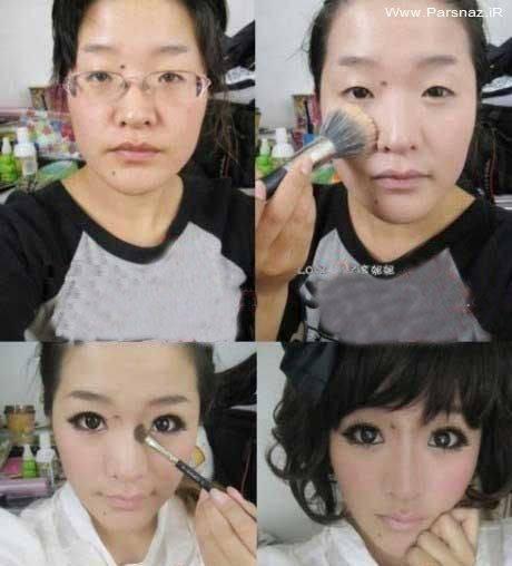 چهره این دختر را بدون آرایش دیدید + عکس