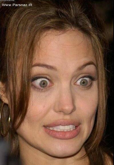www.parsnaz.ir - عکس های دیدنی از ژست های غیر رسمی آنجلینا جولی