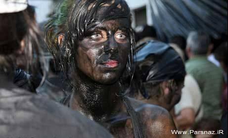 عکس های دیدنی از جشنواره کثیف ترین دختران و پسران