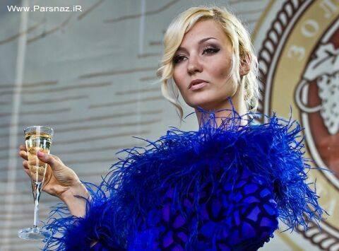 انتخاب دختر شایسته شامپاین، در جشن تولد شامپاین+عکس