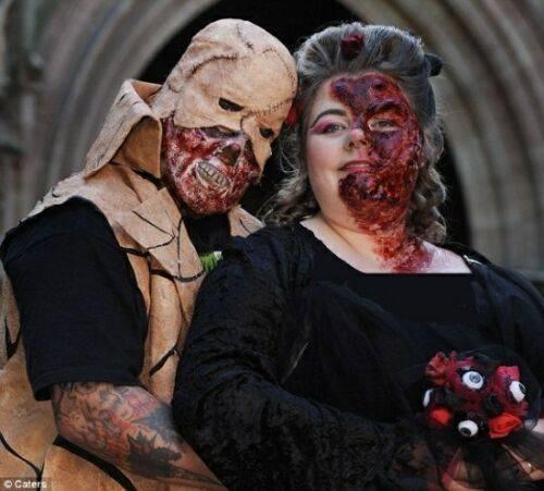 ترسناک ترین عروسی دنیا + عکس