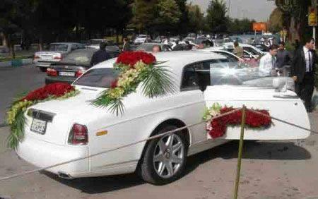 گرانترین ماشین عروس ایران در اصفهان + عکس