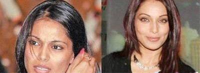 چهره واقعی بازیگران معروف زن بالیوود بدون آرایش + عکس