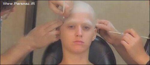 گریم خواننده معروف زن که 7 ساعت طول کشید + عکس